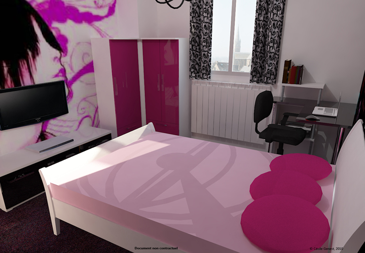 3d projet deco projets 3d de chambres et suites parentales. Black Bedroom Furniture Sets. Home Design Ideas