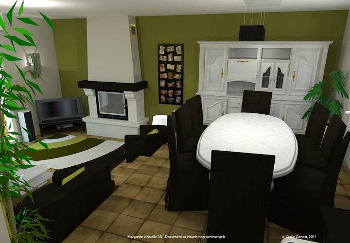 3d projet deco simulation 3d de salons classiques. Black Bedroom Furniture Sets. Home Design Ideas
